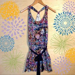 Joy Joy Floral Halter Top Dress